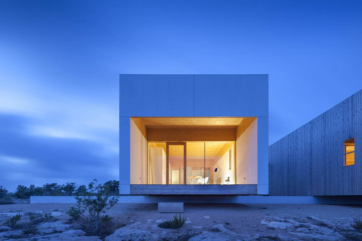 family program called Bosc d'en Pep Ferrer in three monolithic volumes on Formentera island, Spain